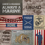 Paper House Productions - 12 x 12 Paper - US Marines Tags