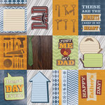 Paper House Productions - Dad Collection - 12 x 12 Paper - Dad Tags