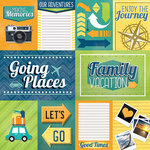 Paper House Productions - Family Vacation Collection - 12 x 12 Paper - Family Vacation Tags