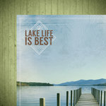Paper House Productions - Lake Life Collection - 12 x 12 Double Sided Paper - Dock on the Lake