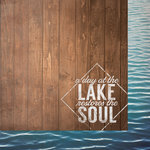 Paper House Productions - Lake Life Collection - 12 x 12 Double Sided Paper - A Day at the Lake