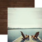 Paper House Productions - Lake Life Collection - 12 x 12 Double Sided Paper - Sit Back and Relax