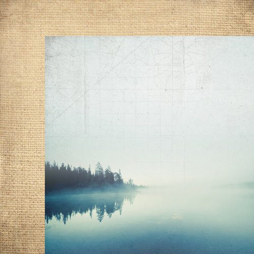 Paper House Productions - Lake Life Collection - 12 x 12 Double Sided Paper - Morning at the Lake