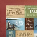 Paper House Productions - Lake Life Collection - 12 x 12 Double Sided Paper - Lake Time Tags