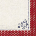 Paper House Productions - Nautical Collection - 12 x 12 Double Sided Paper - Octopus