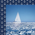 Paper House Productions - Nautical Collection - 12 x 12 Double Sided Paper - Sailing Away