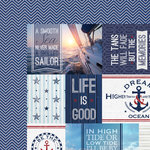 Paper House Productions - Nautical Collection - 12 x 12 Double Sided Paper - Nautical Tags