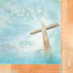 Paper House Productions - Faith Collection - 12 x 12 Double Sided Paper - Heavenly Cross