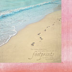 Paper House Productions - Faith Collection - 12 x 12 Double Sided Paper - Footprints