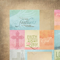 Paper House Productions - Faith Collection - 12 x 12 Double Sided Paper - Faith Tags