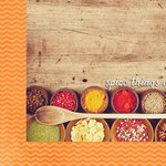 Paper House Productions - Delish Collection - 12 x 12 Double Sided Paper - Spice Things Up