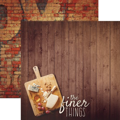 Paper House Productions - Delish Collection - 12 x 12 Double Sided Paper - Finer Things