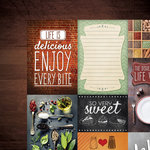 Paper House Productions - Delish Collection - 12 x 12 Double Sided Paper - Delish Tags