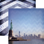 Paper House Productions - New York City Collection - 12 x 12 Double Sided Paper - New York Harbor
