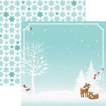Paper House Productions - Christmas Cheer Collection - 12 x 12 Double Sided Paper - Reindeer