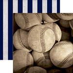 Paper House Productions - All Star Collection - Baseball - 12 x 12 Double Sided Paper - Baseballs