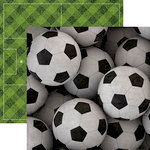 Paper House Productions - All Star Collection - Soccer - 12 x 12 Double Sided Paper - Soccer Balls