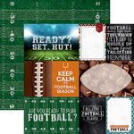 Paper House Productions - All Star Collection - Football - 12 x 12 Double Sided Paper - Football Tags