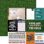 Paper House Productions - All Star Collection - Sports - 12 x 12 Double Sided Paper - MVP Tags