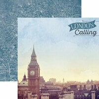 Paper House Productions - Discover Collection - England - 12 x 12 Double Sided Paper - London Calling