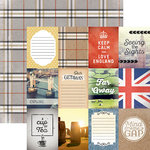 Paper House Productions - Discover Collection - England - 12 x 12 Double Sided Paper - London Tags