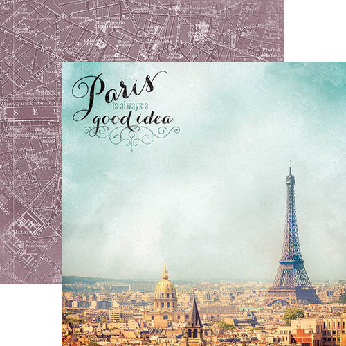 Paper House Productions - Discover Collection - France - 12 x 12 Double Sided Paper - France Is Always A Good Idea