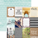 Paper House Productions - Discover Collection - France - 12 x 12 Double Sided Paper - France Tags