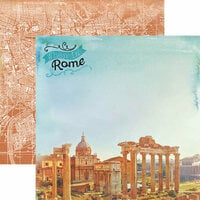 Paper House Productions - Discover Collection - Italy - 12 x 12 Double Sided Paper - When in Rome