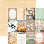 Paper House Productions - Discover Collection - Italy - 12 x 12 Double Sided Paper - Italy Tags