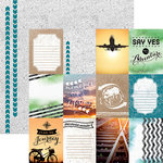Paper House Productions - Discover Collection - Travel - 12 x 12 Double Sided Paper - Discover Tags