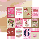 Paper House Productions - Home Front Girl Collection - 12 x 12 Double Sided Paper - Tags