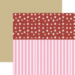 Paper House Productions - Home Front Girl Collection - 12 x 12 Double Sided Paper - Stars and Stripes