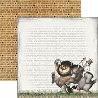 Paper House Productions - Where the Wild Things Are Collection - 12 x 12 Double Sided Paper - Wild Rumpus