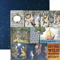 Paper House Productions - Where the Wild Things Are Collection - 12 x 12 Double Sided Paper - Tags