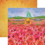 Paper House Productions - Wizard of Oz Collection - 12 x 12 Double Sided Paper - Poppies
