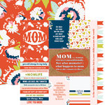 Paper House Productions - One Big Happy Family Collection - 12 x 12 Double Sided Paper - Mom Tags