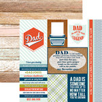 Paper House Productions - One Big Happy Family Collection - 12 x 12 Double Sided Paper - Dad Tags