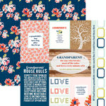 Paper House Productions - One Big Happy Family Collection - 12 x 12 Double Sided Paper - Grandparents Tags
