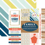 Paper House Productions - One Big Happy Family Collection - 12 x 12 Double Sided Paper - Family Tags