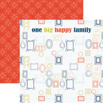 Paper House Productions - One Big Happy Family Collection - 12 x 12 Double Sided Paper - One Big Happy Family