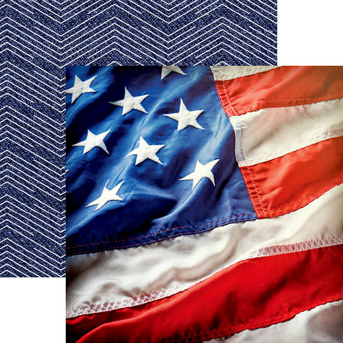 Paper House Productions - Let Freedom Ring Collection - 12 x 12 Double Sided Paper - Stars and Stripes