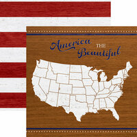 Paper House Productions - Let Freedom Ring Collection - 12 x 12 Double Sided Paper - America the Beautiful