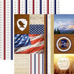 Paper House Productions - Let Freedom Ring Collection - 12 x 12 Double Sided Paper - Let Freedom Ring Tags