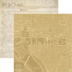 Paper House Productions - Let Freedom Ring Collection - 12 x 12 Double Sided Paper - Washington DC Map