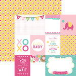 Paper House Productions - Hello Baby Girl Collection - 12 x 12 Double Sided Paper - Hello Baby Tags