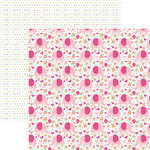 Paper House Productions - Hello Baby Girl Collection - 12 x 12 Double Sided Paper - Pink Elephants