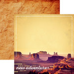 Paper House Productions - Southwest Adventure Collection - 12 x 12 Double Sided Paper - Monument Valley