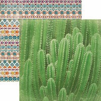 Paper House Productions - Southwest Adventure Collection - 12 x 12 Double Sided Paper - Cactus