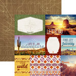Paper House Productions - Southwest Adventure Collection - 12 x 12 Double Sided Paper - Southwest Adventure Tags