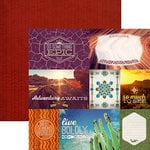 Paper House Productions - Southwest Adventure Collection - 12 x 12 Double Sided Paper - Adventure Awaits Tags